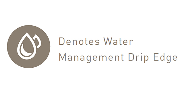 Water Management Drip Edge Round Icon with Text